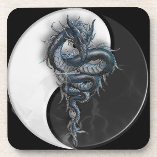 Yin Yang Chinese Dragon Cork Coasters