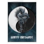 Yin Yang Chinese Dragon Customizable Greeting Card
