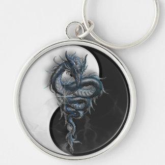 Yin Yang Chinese Dragon Large Key Ring