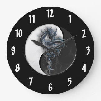 Yin Yang Chinese Dragon Large Wall Clock