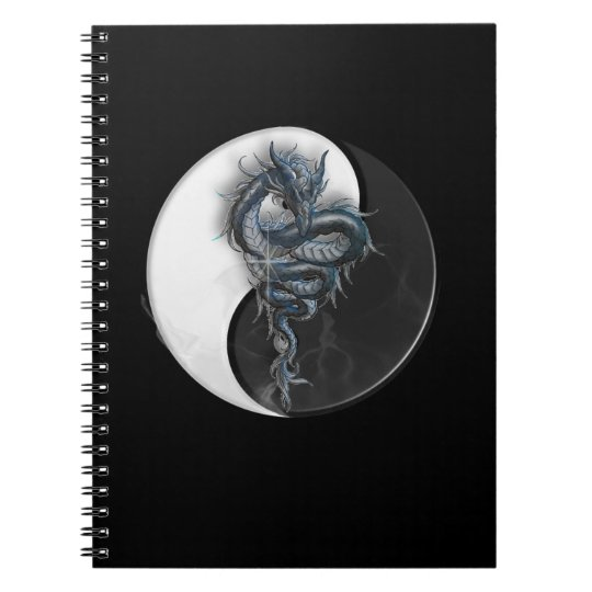 Yin Yang Chinese Dragon Notebook