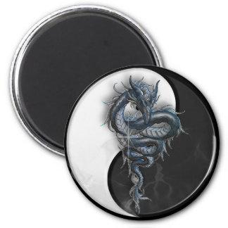 Yin Yang Chinese Dragon Round Magnet