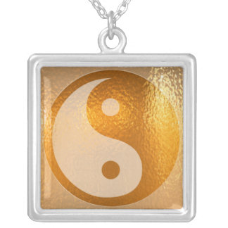YIN YANG -  Chinese symbol of luck n balance Square Pendant Necklace