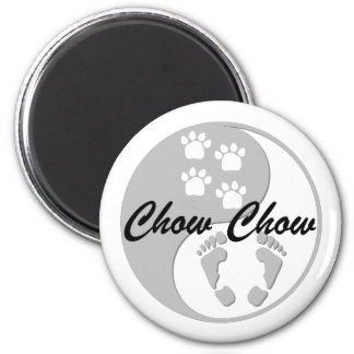 yin yang chow chow 2 inch round magnet
