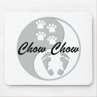 yin yang chow chow mouse pad