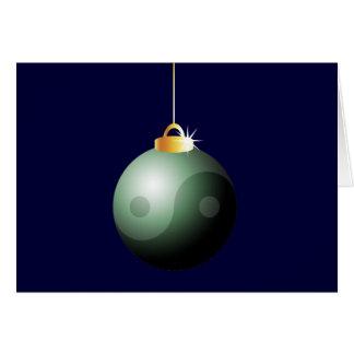 Yin Yang Christmas Ball Card