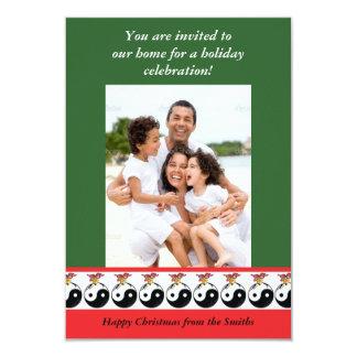 Yin & Yang Christmas Ball Card