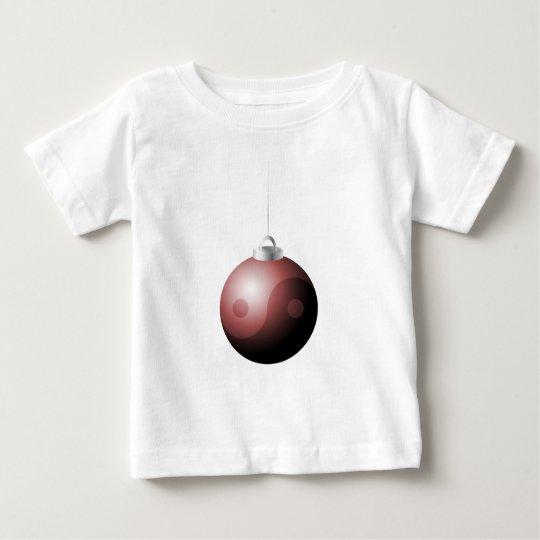 Yin Yang Christmas Ball in Red Baby T-Shirt