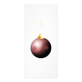 Yin Yang Christmas Ball in Red Rack Card