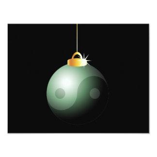 Yin Yang Christmas Ball Personalized Invitation