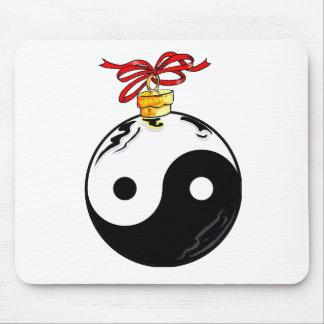Yin & Yang Christmas Ball Mouse Pad