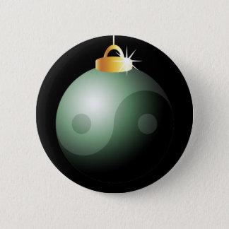Yin Yang Christmas Ball Pinback Button