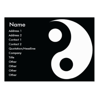 Yin Yang - Chubby Large Business Cards (Pack Of 100)