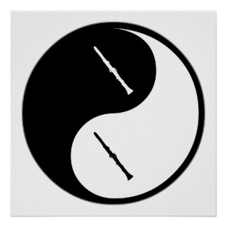 Yin Yang Clarinet Posters