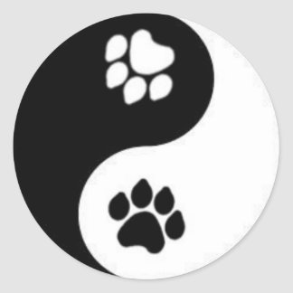 Yin & Yang Classic Round Sticker