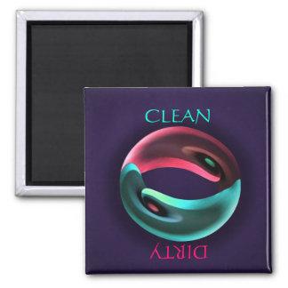 Yin Yang Clean Dirty Dishwasher Magnet