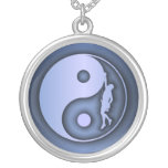 Yin & Yang Climber (blue) Necklace