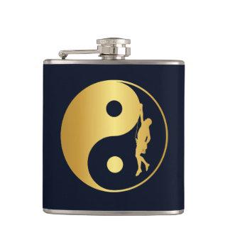 Yin & Yang Climber (gold) Hip Flask