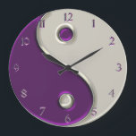 "Yin Yang Clock in Purple and While<br><div class=""desc"">Balance your time. Yin Yang Clock in Purple and White. Bring the symbols of balance, harmony, unity and completeness into your time line with this yin-yang wall clock. Making it easy to keep your eye on the time so you never miss one of your favorite things because you lead such...</div>"