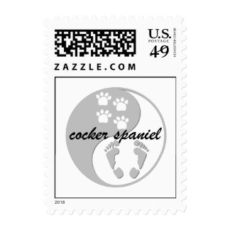 yin yang cocker spaniel postage