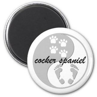 yin yang cocker spaniel refrigerator magnet