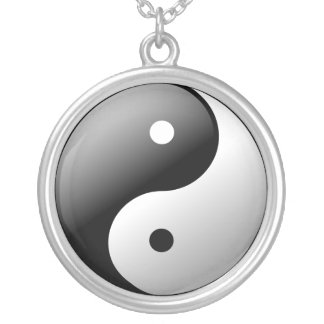 Yin Yang Collar Plateado