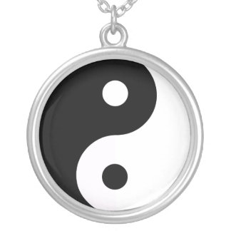 Yin-Yang collar Silver Plated Necklace