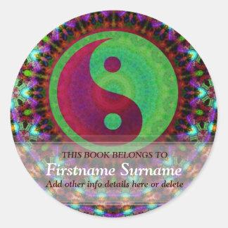 Yin Yang Colourama Bookplate Sticker