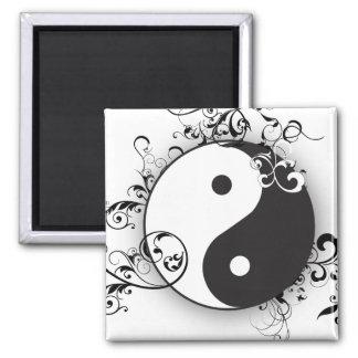 Yin-Yang con el movimiento en sentido vertical Imán Para Frigorifico