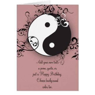 Yin-Yang con el movimiento en sentido vertical Tarjeta De Felicitación