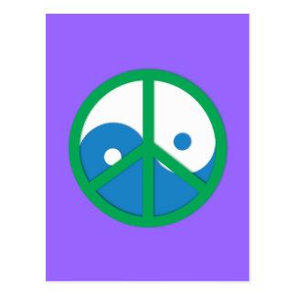 Yin-Yang con el signo de la paz Postales