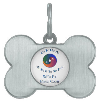 Yin Yang Couple Him To Her Verse Pet Name Tag