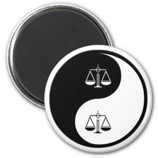 Yin Yang Criminal Justice Fridge Magnets