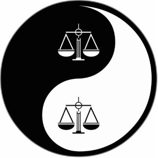 Yin Yang Criminal Justice Cut Out