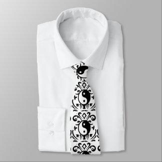 Yin Yang Damask Neck Tie