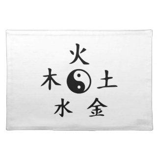 Yin yang de cinco elementos manteles