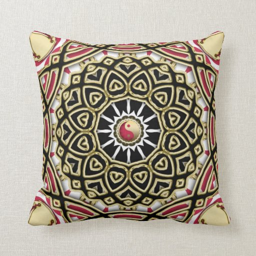 Yin Yang Decorative Shine Mandala Cushion