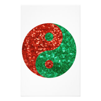 yin yang del navidad  papeleria de diseño