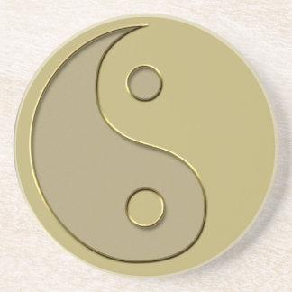 yin yang del oro posavasos para bebidas
