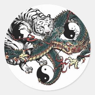 Yin Yang Design Classic Round Sticker