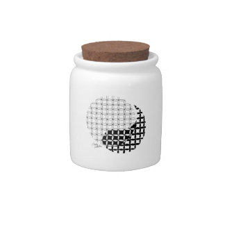 Yin Yang Design with a blended twist Candy Jars