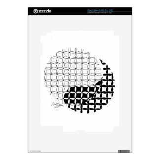 Yin Yang Design with a blended twist iPad 2 Decal