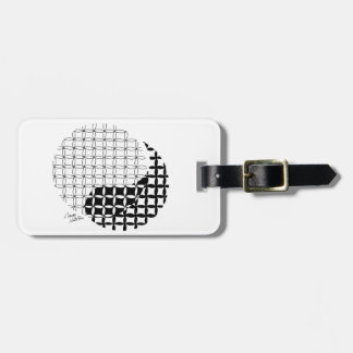Yin Yang Design with a blended twist Tag For Luggage