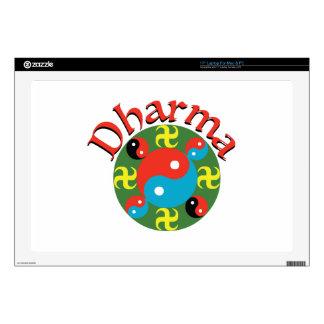 "Yin Yang Dharma 17"" Laptop Decal"