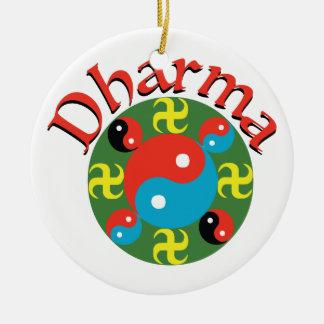 Yin Yang Dharma Ceramic Ornament