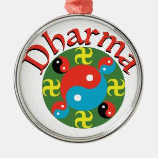 Yin Yang Dharma Metal Ornament