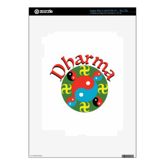 Yin Yang Dharma Skin For iPad 3