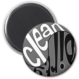 Yin Yang Dirty Clean Dishwasher Magnet White Black