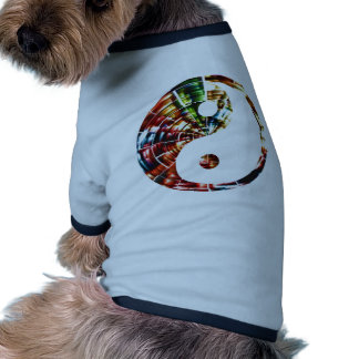 Yin Yang - diseño rojo de la chispa Camiseta Con Mangas Para Perro