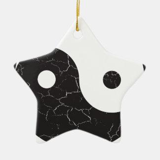 Yin Yang - Distressed Texture Ceramic Ornament